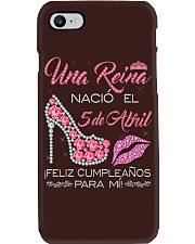 Camisetas Sublimadas Reina Nacida en Abril Mujer Phone Case thumbnail