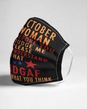 OCTOBER WOMAN-V Cloth face mask aos-face-mask-lifestyle-21