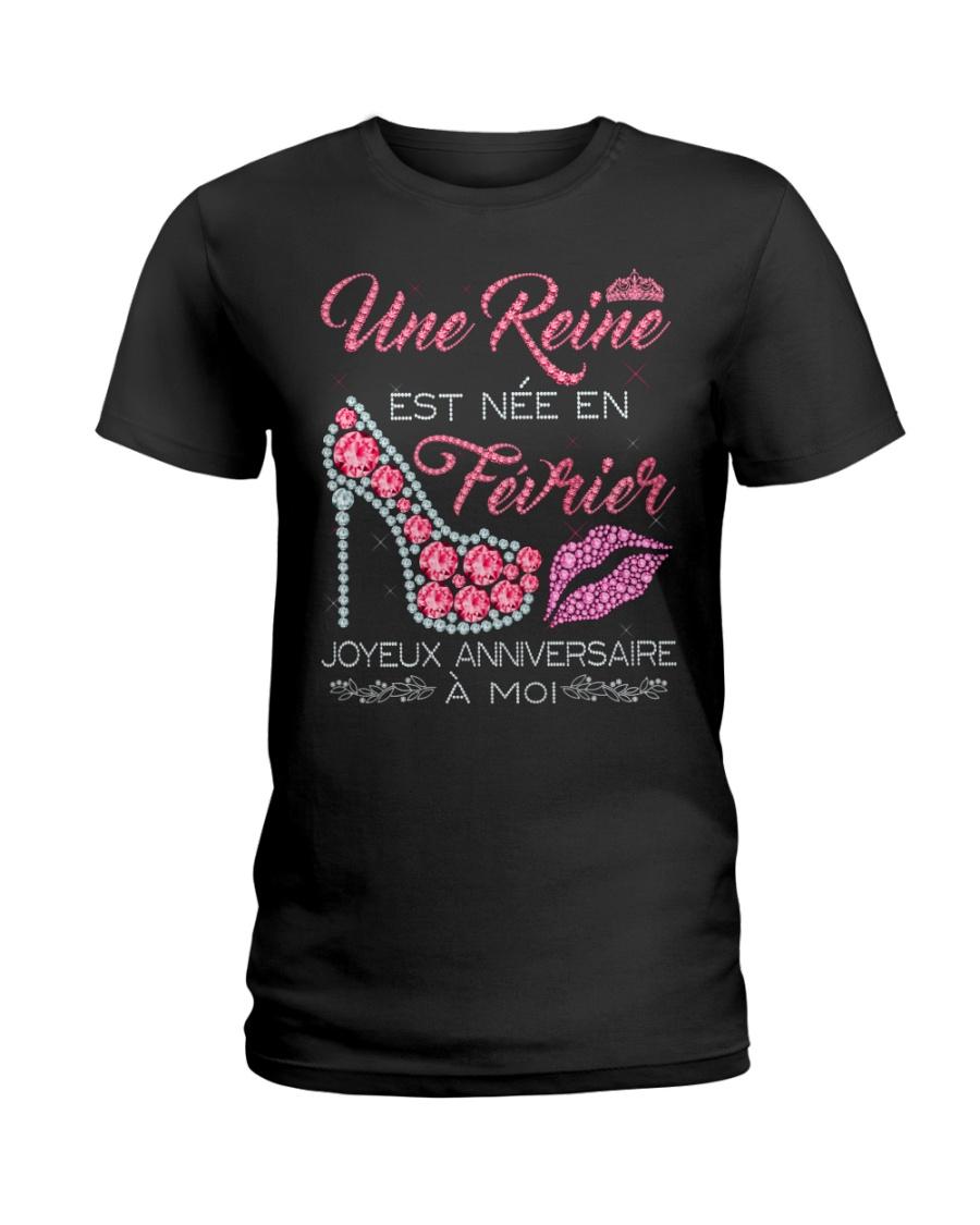 Fevrier Joyeux Anniversaire Tee Shirt Femme Ladies T-Shirt