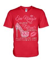 Eine Königin Februar V-Neck T-Shirt thumbnail
