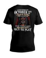OCTOBER 13th V-Neck T-Shirt thumbnail