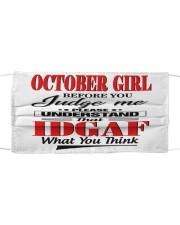 OCTOBER GIRL-V Cloth face mask front