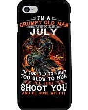 Grumpy old man July tee Cool T shirts for Men Z Phone Case thumbnail