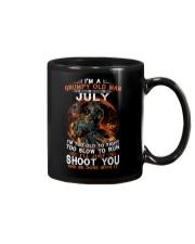 Grumpy old man July tee Cool T shirts for Men Z Mug thumbnail