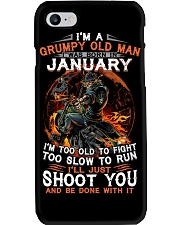 Grumpy old man January tee Cool T shirts for Men Phone Case thumbnail