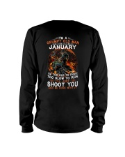 Grumpy old man January tee Cool T shirts for Men Long Sleeve Tee thumbnail