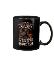 Grumpy old man January tee Cool T shirts for Men Mug thumbnail