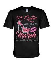 MARCH QUEEN V-Neck T-Shirt thumbnail