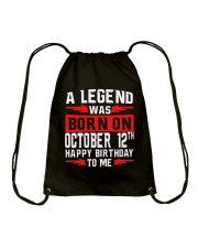 OCTOBER LEGEND 12th  Drawstring Bag thumbnail