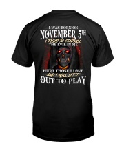 November 5th Classic T-Shirt back