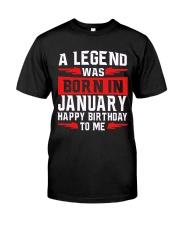 JANUARY LEGEND Classic T-Shirt front