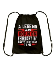 16th February legend Drawstring Bag thumbnail