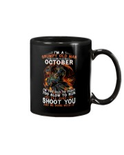 Grumpy old man October tee Cool T shirts for Men Mug thumbnail