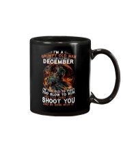 Grumpy old man December tee Cool T shirts for Men Mug thumbnail