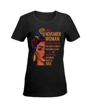 H - NOVEMBER GIRL Ladies T-Shirt women-premium-crewneck-shirt-front