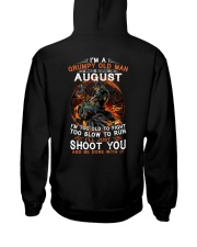 Grumpy old man August tee Cool T shirts for Men Hooded Sweatshirt thumbnail