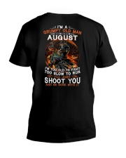 Grumpy old man August tee Cool T shirts for Men V-Neck T-Shirt thumbnail