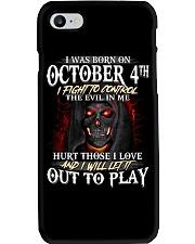 OCTOBER 4th Phone Case thumbnail