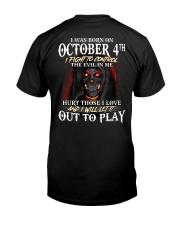 OCTOBER 4th Classic T-Shirt back