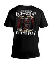 OCTOBER 4th V-Neck T-Shirt thumbnail