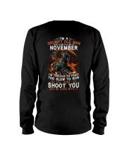 H-Grumpy old man November tee Cool T shirt for Men Long Sleeve Tee thumbnail
