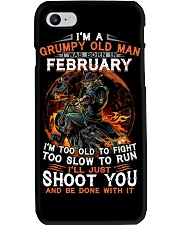 Grumpy old man February tee Cool T shirts for Men Phone Case thumbnail