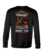Grumpy old man February tee Cool T shirts for Men Crewneck Sweatshirt thumbnail
