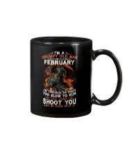 Grumpy old man February tee Cool T shirts for Men Mug thumbnail