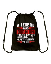 JANUARY LEGEND Drawstring Bag tile