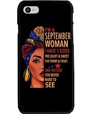 September shirt Printing Birthday for Women L Phone Case thumbnail