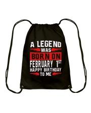 1st February legend Drawstring Bag thumbnail