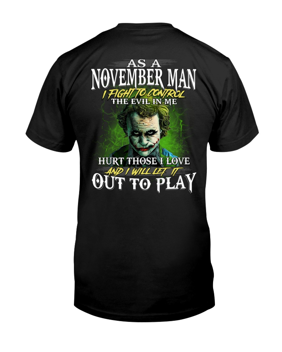 Birthday shirt design for November boys men Classic T-Shirt