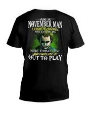 Birthday shirt design for November boys men V-Neck T-Shirt thumbnail