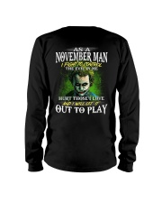 Birthday shirt design for November boys men Long Sleeve Tee thumbnail