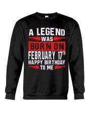 17th February legend Crewneck Sweatshirt thumbnail