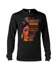 H-August T shirt Printing Birthday shirt for Women Long Sleeve Tee thumbnail