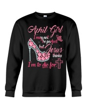 April T shirt Printing Birthday shirts for Women Crewneck Sweatshirt thumbnail
