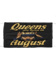 AUGUST QUEENS Cloth face mask front