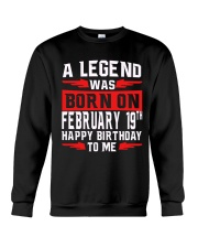 19th February legend Crewneck Sweatshirt thumbnail
