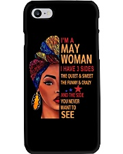H- MAY WOMAN  Phone Case tile