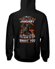 H-Grumpy old man January tee Cool T shirts for Men Hooded Sweatshirt thumbnail