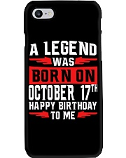 OCTOBER LEGEND 17th  Phone Case tile