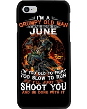 Grumpy old man June tee Cool T shirts for Men Phone Case thumbnail