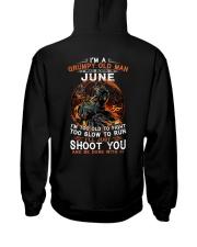 Grumpy old man June tee Cool T shirts for Men Hooded Sweatshirt thumbnail
