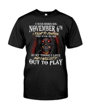 November 6th Classic T-Shirt front