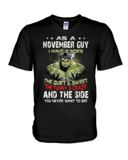 H- NOVEMBER GUY V-Neck T-Shirt thumbnail