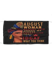 AUGUST WOMAN Cloth face mask front