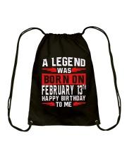 13th February legend Drawstring Bag thumbnail