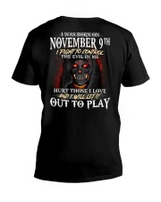 November 9th V-Neck T-Shirt thumbnail