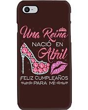 H-Camisetas Sublimadas Reina Nacida en Abril Mujer Phone Case thumbnail
